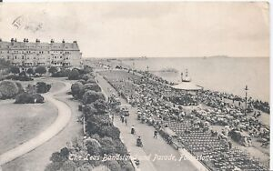 Postcard-The-Leas-Bandstand-and-Parade-Folkestone-Kent-posted-1913