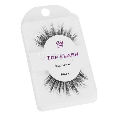 Pair Black Luxurious Real Mink Natural Thick Fake Eye Lashes False Eyelashes