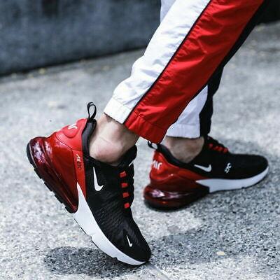 NEU Nike Air Max 270 Herren Turnschuhe Schwarz Blut Rot alle Größen Limited Edition | eBay