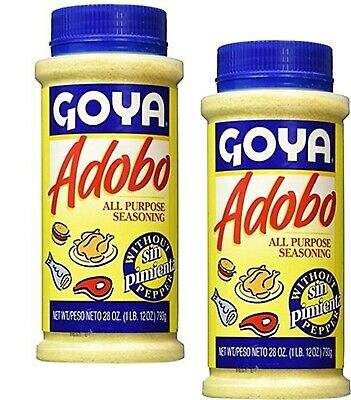Goya Adobo Seasoning Without Pepper Adobo Sin Pimienta 28 Oz 2 Pack 41331038430 Ebay