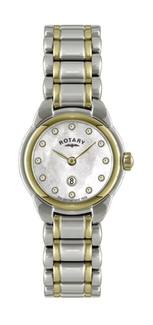 Rotary Women's Two tone Stainless Steel bracelet Quartz Watch LB02602/41L