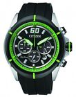 Citizen Eco-Drive Resin Band Mens Steel Case Motor Sports Watch CA4104-05E