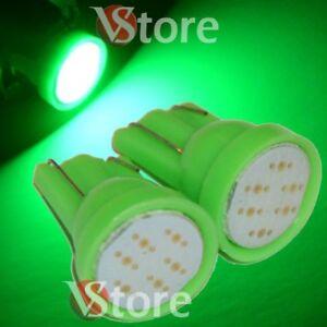 2-Lampade-Led-T10-COB-6-Chip-Luci-Verde-Xenon-Posizione-Targa-Interni-Auto-5W