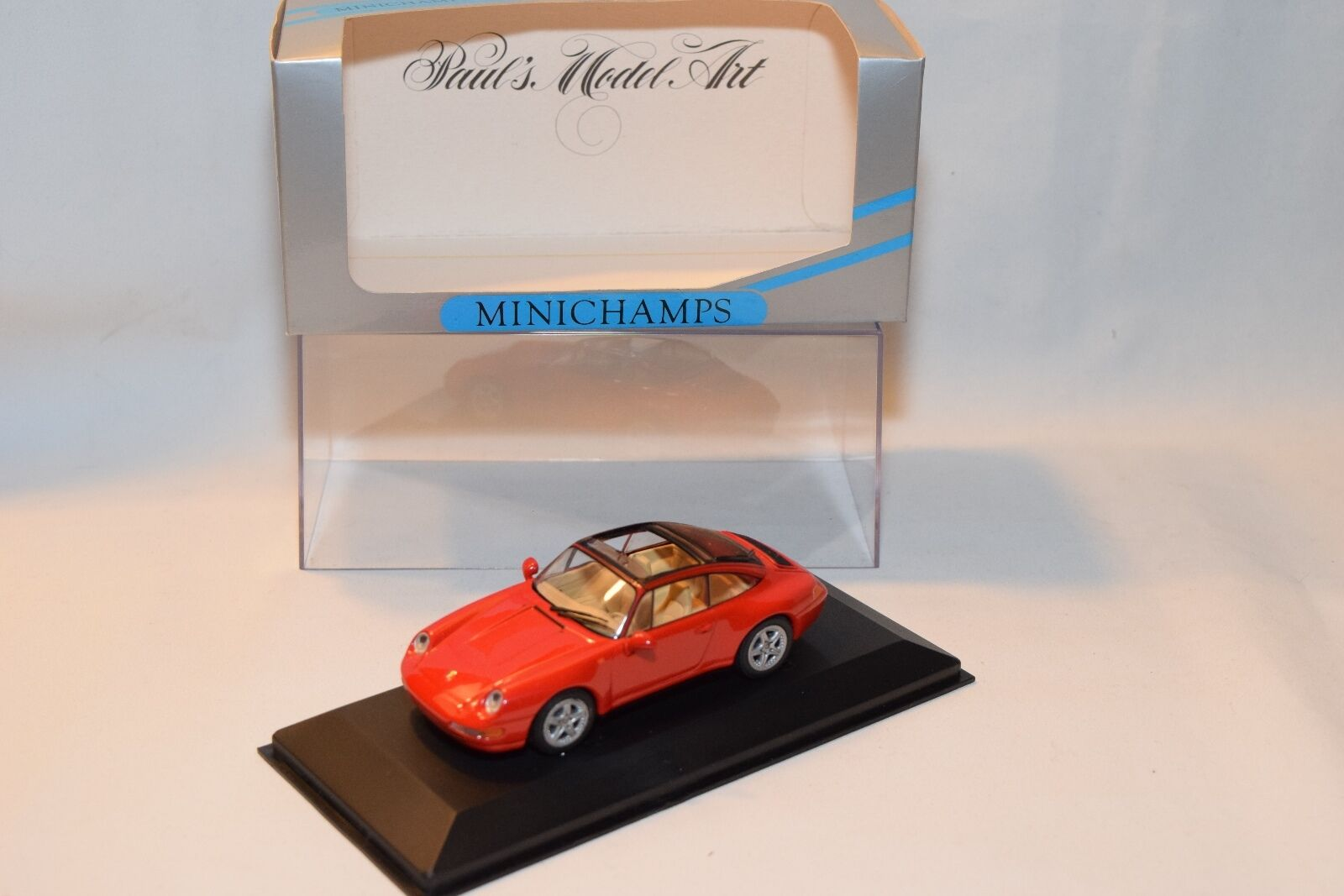 .porsche 911 targa 1995 minichamps 993 rot - boxen