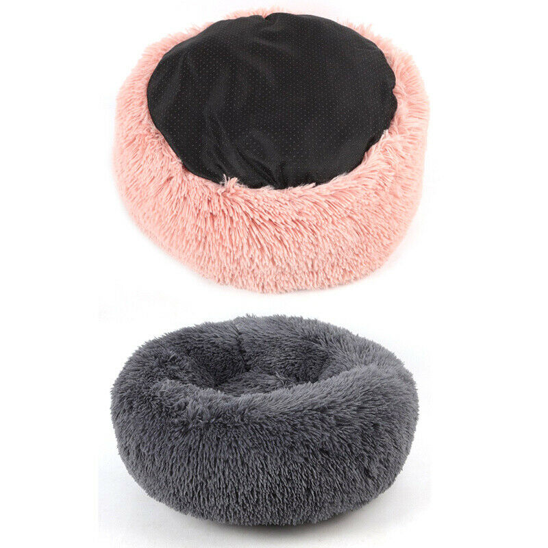 Comfy Calming Dog Cat Bed Round Warm Soft Plush Pet Bed Marshmallow Cat Bed XXXL 6