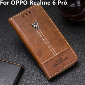 Para OPPO Realme 6 Pro libro Abatible Cubierta Estuche Billetera Cuero PU ranura para tarjeta de teléfono nuevo