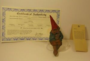 RETIRED-OLD-VINTAGE-1986-TOM-CLARK-SIGNED-GNOME-BEETLE-BAILEY-STATUE-FIGURE-1148