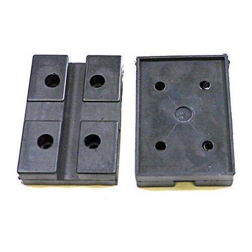 Dunlop 2 Post Rubber Lift Pads X2 - Ramp Spares E4g 183