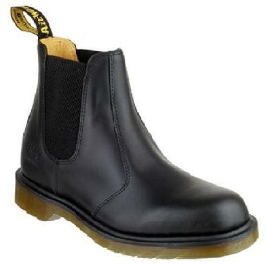 Black B8250 Industrial Boots Dr Martens Black Chelsea Original Airwair Boots Industrial size 9 bcb516