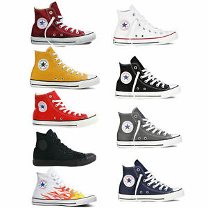 Converse-Chuck-Taylor-All-Star-Hi-Sneaker-da-Uomo-Caviglia-Alta-Ginnastica