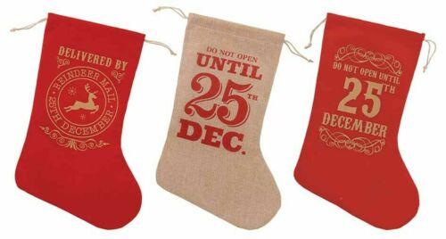 Christmas Stocking Socks de Hesse Style Cadeau De Noël Sac Santa NOVELITY Poussoir