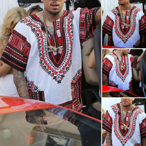 cfa52db85f8d6 Fashion New Mens Womens African Shirts Dress Boho Hippie Kaftan ...