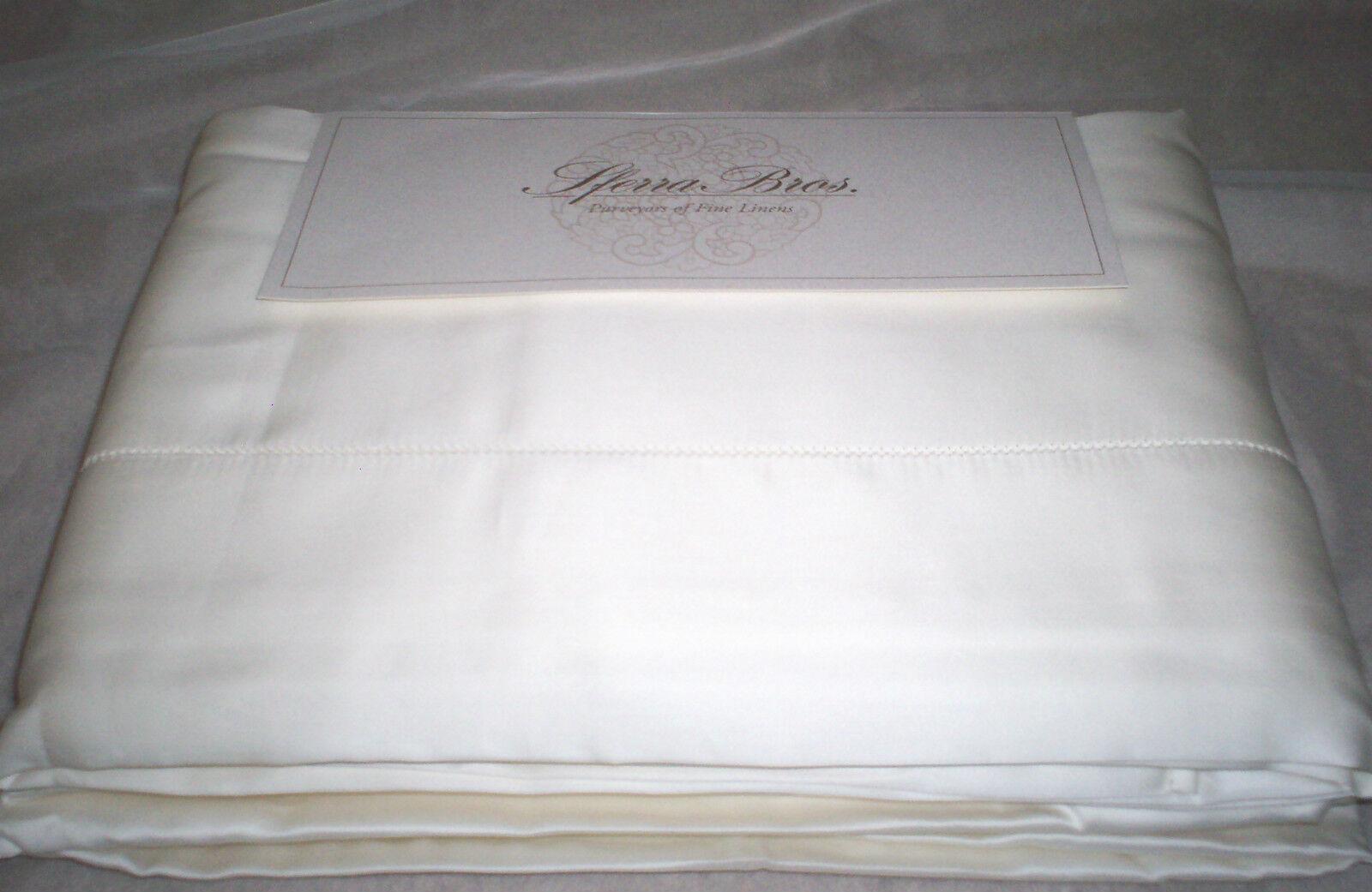 Sferra Allegro 600TC EXTRA LONG STAPLE Cotton Sateen Sheet Set CAL KING Ivory