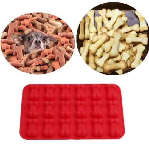 Silicone Dog Bone plaque de cuisson Dog Treat recettes thème Ice Cube Bonbons Moule Q