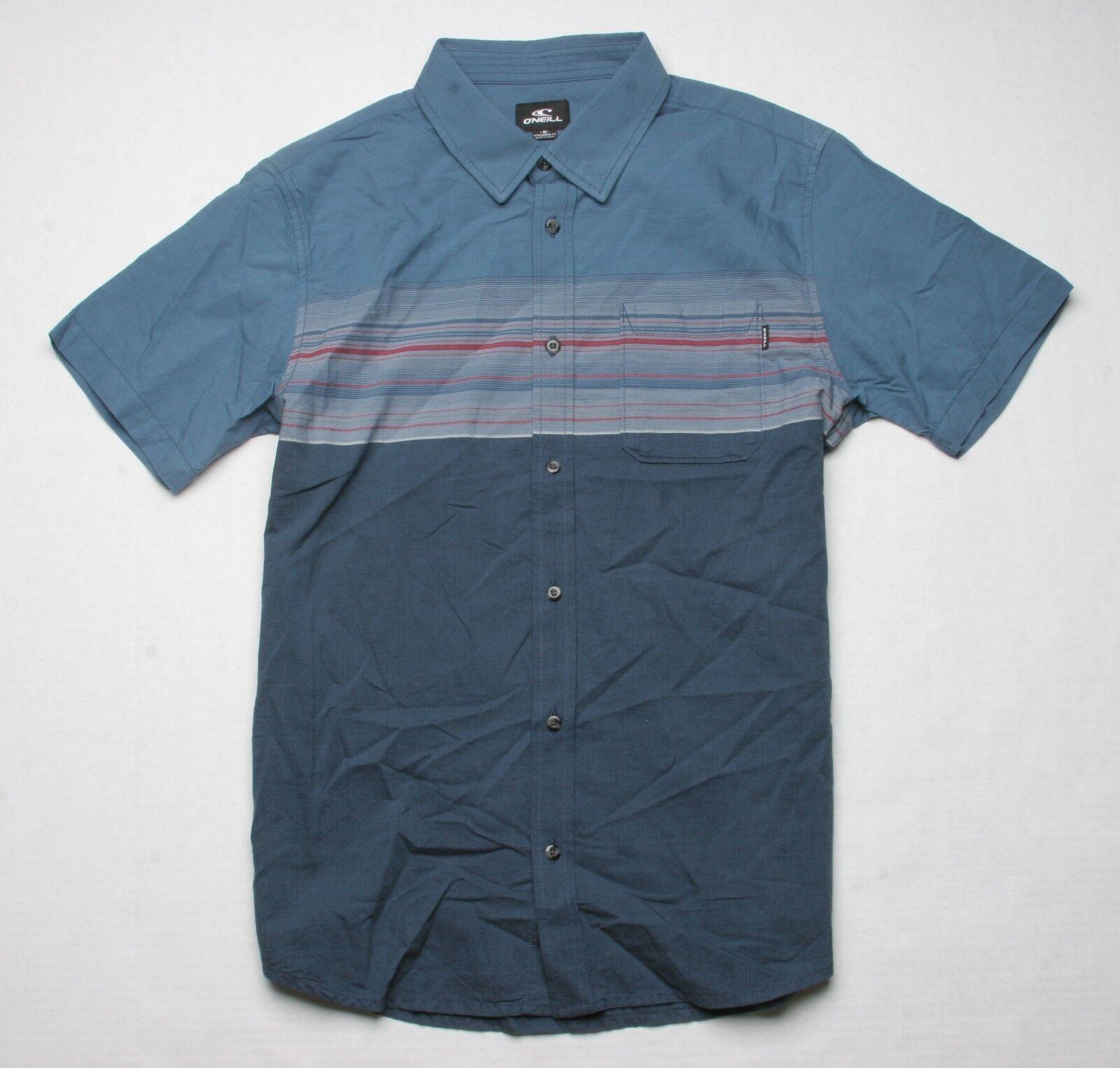 O'Neill Thurston Chest Stripe Shirt (M) Navy
