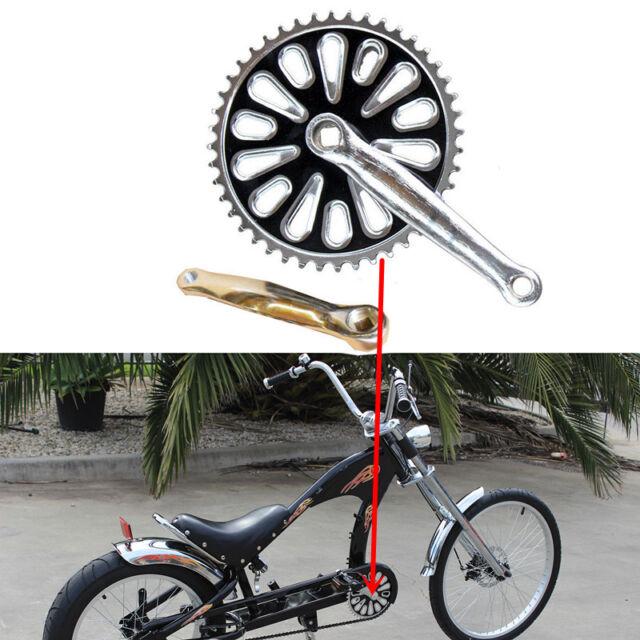 44T Sprocket for Stingray Vintage Chopper Bike New Pedal Spindle Cranksets