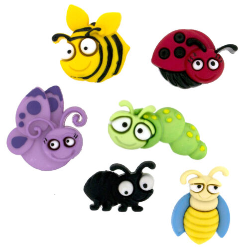 Bugs Bug Eyed Novelty Buttons Cake Decorations Childrens Buttons