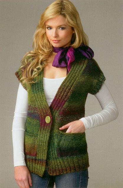 Ladies Waistcoat JB070 Knitting Pattern James C Brett Marble Chunky