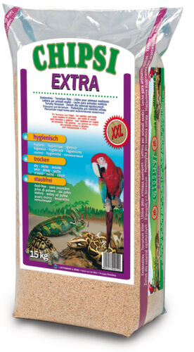 1 von 1 - Chipsi Extra XXL 15kg Buchenholz - Granulat Bodensubstrat Reptilien Nager Vögel