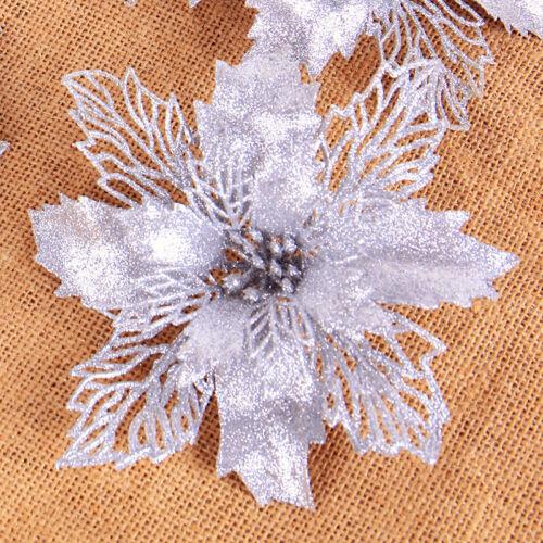 4Pcs//Set Christmas Glitter Hollow Flower Tree Hanging Ornament Home Decor New