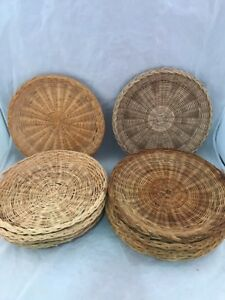 Image is loading Wicker-9-5-034-Rattan-Bamboo-Paper-Plate- : bamboo paper plate holders - pezcame.com