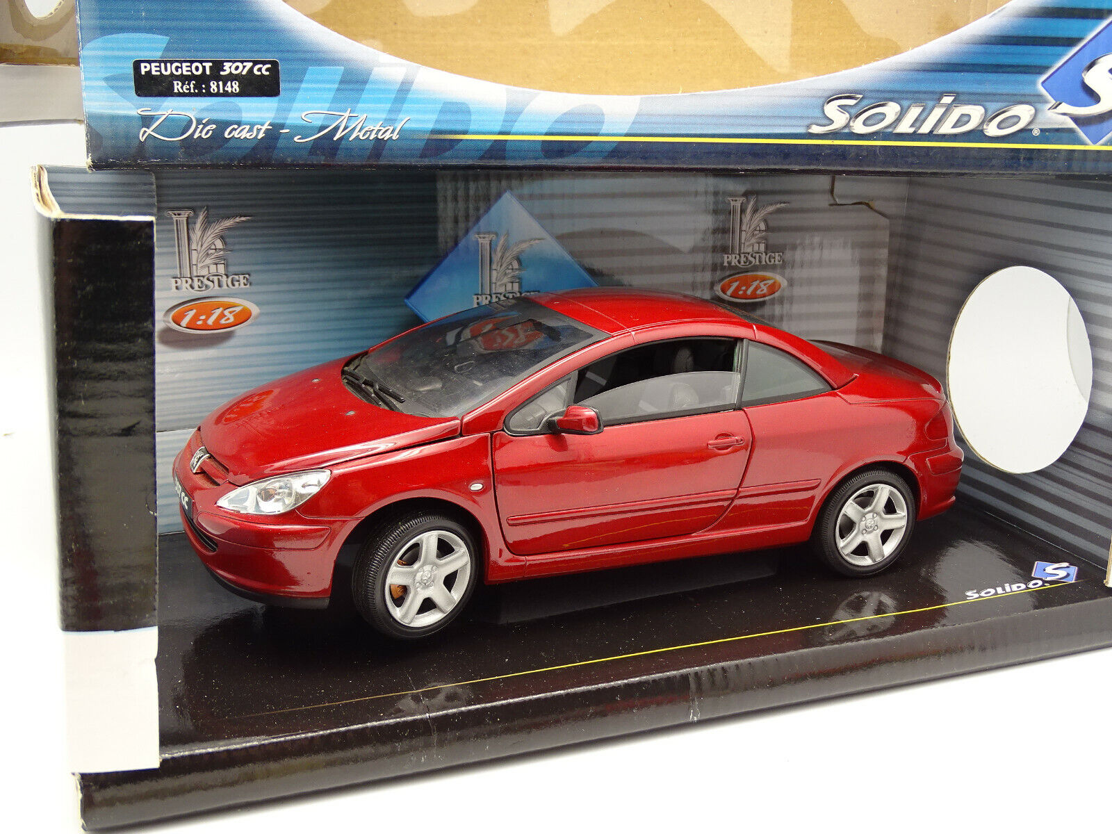 Solid 1 18 - peugeot 307 CC Red