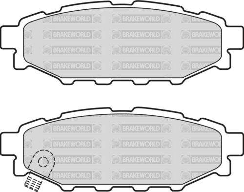OEM SPEC FRONT REAR DISCS AND PADS FOR SUBARU IMPREZA 2.0 R 2007-11