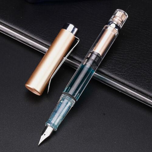 Penbbs 494 EF// F Feder Füller Durchsichtig Tinte Piston Fountain Pen Federhalter