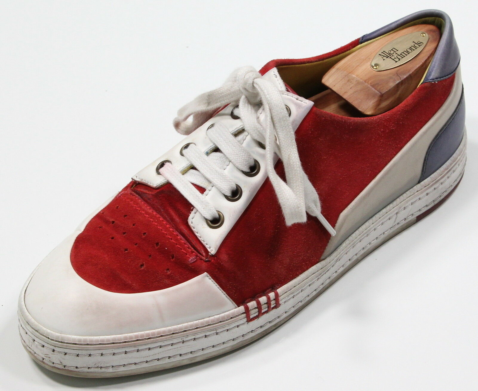 BERLUTI   1500 bluee Red 'Playfield 'Playfield 'Playfield Palermo' Leather Sneakers US 9 961721
