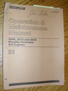 Details about CAT Caterpillar 3508 3512 3516 OPERATION MAINTENANCE MANUAL  GENSET DIESEL ENGINE