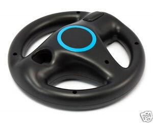 1x-Nintendo-Wii-Lenkrad-schwarz-black-Mario-Kart-Controller-Zubehoer-Wheel-NEU