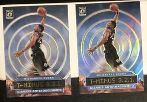 2019-Donruss-Optic-Giannis-Antetokounmpo-T-Minus-Silver-Holo-Prizm-amp-Base-LOT-2
