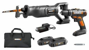 WORX WX946L 20V Drill Driver & Reciprocating Saw