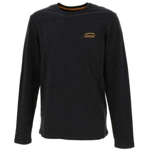 Neuf Tee shirt manches longues Oxbow Twen  tees hirt  ml h noir Noir 43851