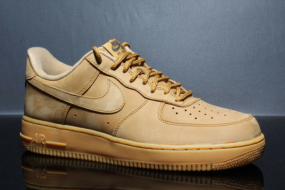 NIKE FORCE 1'07 WB AA4061-200 AIR Lino Goma Marrón Claro De Tamaño  10.5