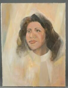 Merton-Simpson-Painting-African-American-Artist-Aretha-Franklin-20-X-16-Inches