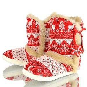 Mujer Dunlop Pantuflas Cálido Para Invierno Relax Hogar Piel Sintética