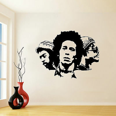 BOB MARLEY AND THE WAILERS ICONIC WALL STICKER VINYL MURAL DECAL TRANSFER