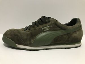 cheap for discount 2b0f1 771f8 Image is loading Mens-Puma-Roma-Olive-Army-Green-Night-Black-