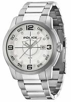 Police 14386js/04m Sniper Stainless Steel White Dial Date 2 Yr Guar Rrp £140.00