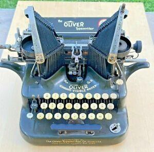 Antique Clean Oliver Typewriter Military Green #5 - BEAUTIFUL MACHINE!