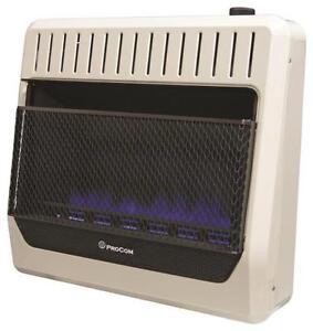 Procom   Btu Natural Gas Blue Flame Heater