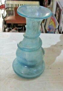 """VASO vetro PULEGOSO di MURANO tipo """"SCAVO"""" originale anni 70 altezza Cm. 17,5"""