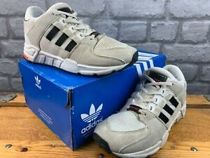 ADIDAS UK 2 EU 34 EQT SUPPORT OFF WHITE BLACK TRAINERS CHILDRENS BOYS GIRLS M