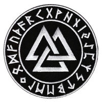 Vikings Symbol Valknut Embroidered 4 Inch Iron On Patch