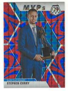 STEPHEN-CURRY-2019-20-Panini-Mosaic-Reactive-Blue-299-Warriors-ID-1697