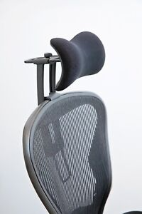 image is loading new atlas headrest ergonomically optimized for herman miller - Herman Miller Aeron Chair