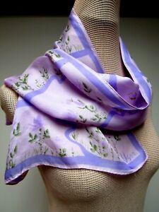 VTG-VERA-Neumann-Silk-13-3-4-x-43-1-2-Long-Scarf-Floral-Lavender-Pink-Purple-EUC