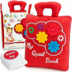 Quiet Book Toddlers Montessori Basic Skills Activity Soft ...
