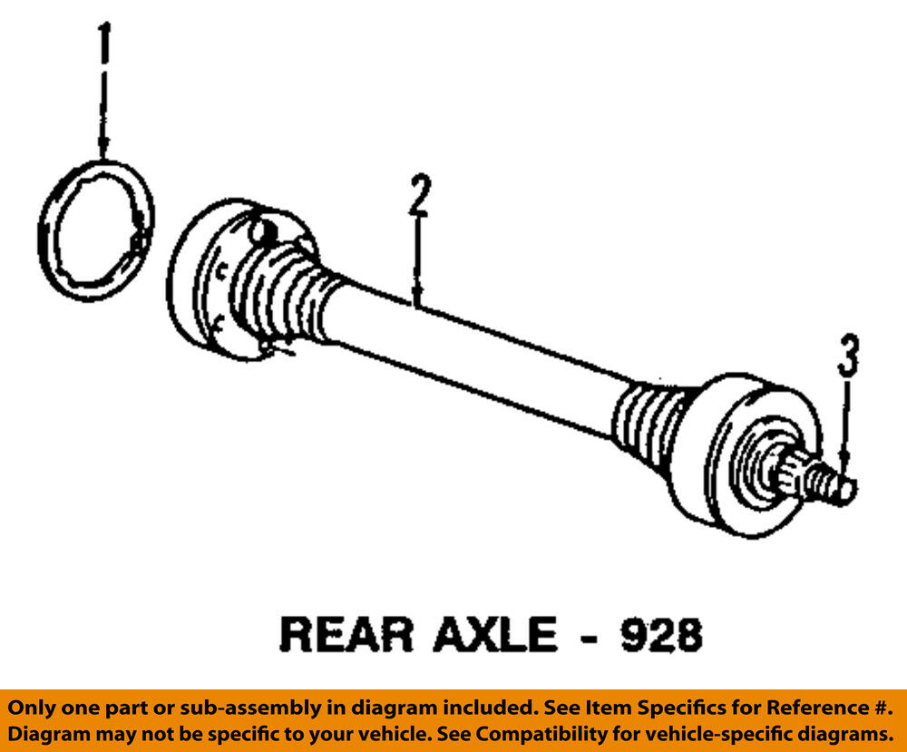Porsche Oem 85 91 928 Rear Axle Assembly Or Cv Shaft 92833203350 Ebay Subaru Diagram Norton Secured Powered By Verisign